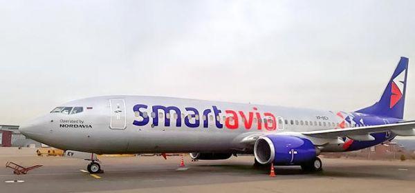 """Авиакомпания """"Smartavia""""(юридическое наименование АО """"Нордавиа — региональные авиалинии"""") получила первый самолет Boeing 737-800"""